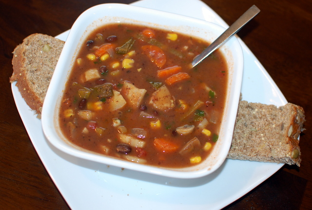 Black Bean Vegetable Soup | Be the Change Nutrition