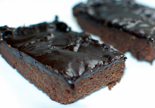 ... Brownies made with cooked quinoa instead of flour! Fudgy, chewy